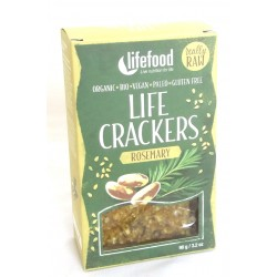 Lifecrackers cu rozmarin raw bio 90g Lifefood