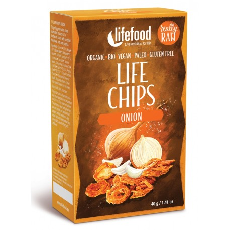 Chips din ceapa raw bio 60g Lifefood