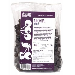Aronia fructe uscate bio 150g Dragon Superfoods